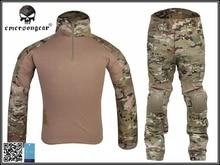 Koszula i Spodnie BDU Gen2 Emerson Tactical & Podkładki Garnitur Airsoftsports Mundur Wojskowy Kamuflaż Myśliwski Combat Emerson EM2725 ^