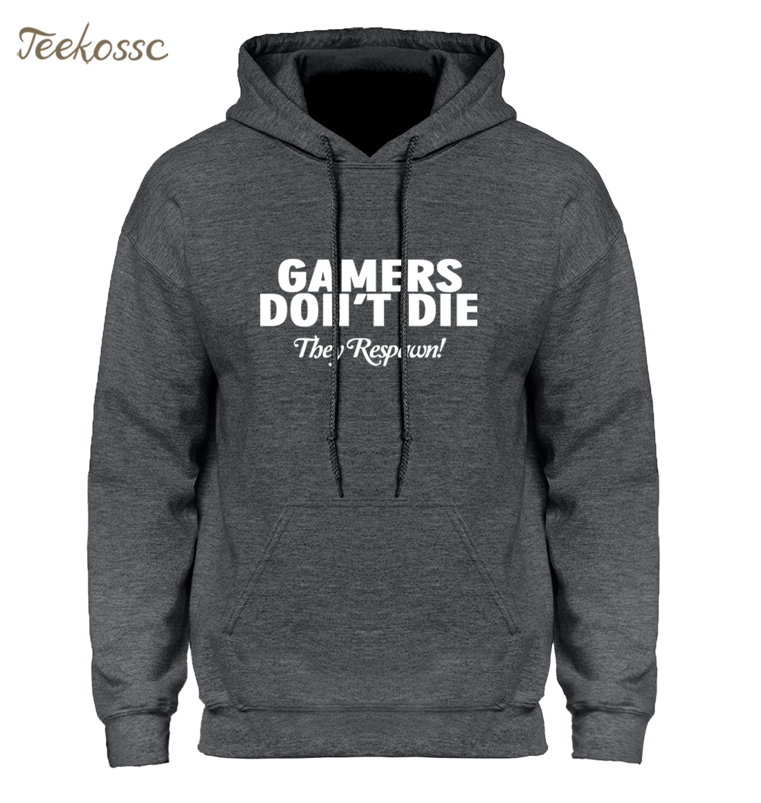 GAMERS DON'T DIE THEY RESPAWN Men Hoodie FUNNY NOVELTY COD PS4 XBOX Hoodies Mens 2018 Winter Autumn Fleece Hooded Sweatshirt XXL