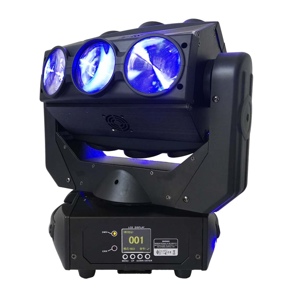 2PCS/Lot High Brightness 9*12W RGBW 4IN1 LED Beam Moving Head Light For DJ Club Disco Party Stage Effect Lighting  2pcs lot led moving head light high quality 8 10w rgbw 4in1 spider beam dj party ktv club light stage effect lighting