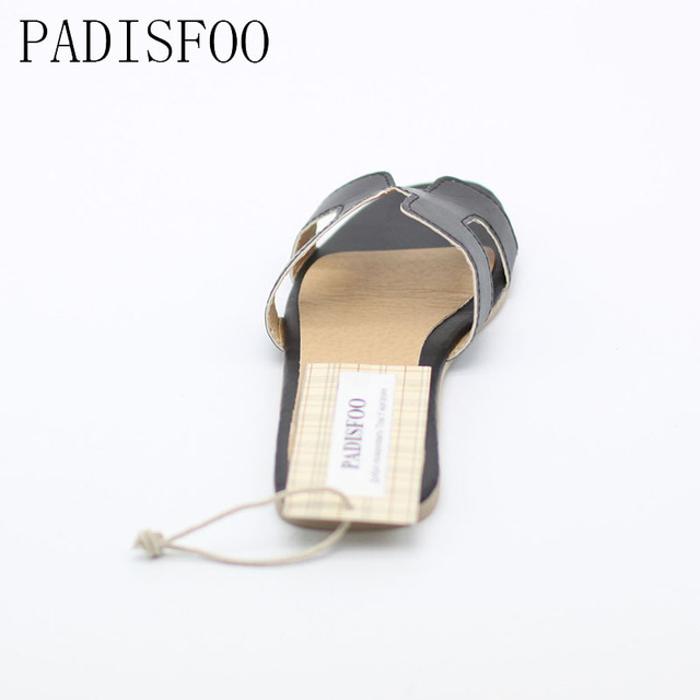 2017 Shoes Women  New Summer style Women's slippers sandals Flat with slip-on sandals for women girls H shape shoes .DFGD-809