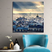 home decor Posters and prints Urban landscape Canvas painting decoration wall picture for living room No Frame