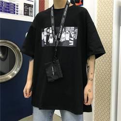 Fajne Harajuku Naruto Tshirt Streetwear mężczyźni moda lato aminy T-shirt na co dzień Cartoon drukuj męskie topy śmieszne japonia T Shirt chłopcy 4