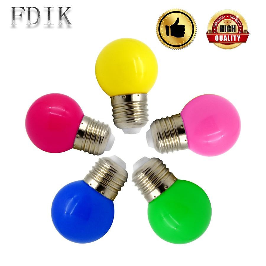 E27 Coloured Vesicles 220V LED Globe Bulb Light SMD 2835 Energy Saving Lamp Home Personality Decor Lights For Holiday Lighting