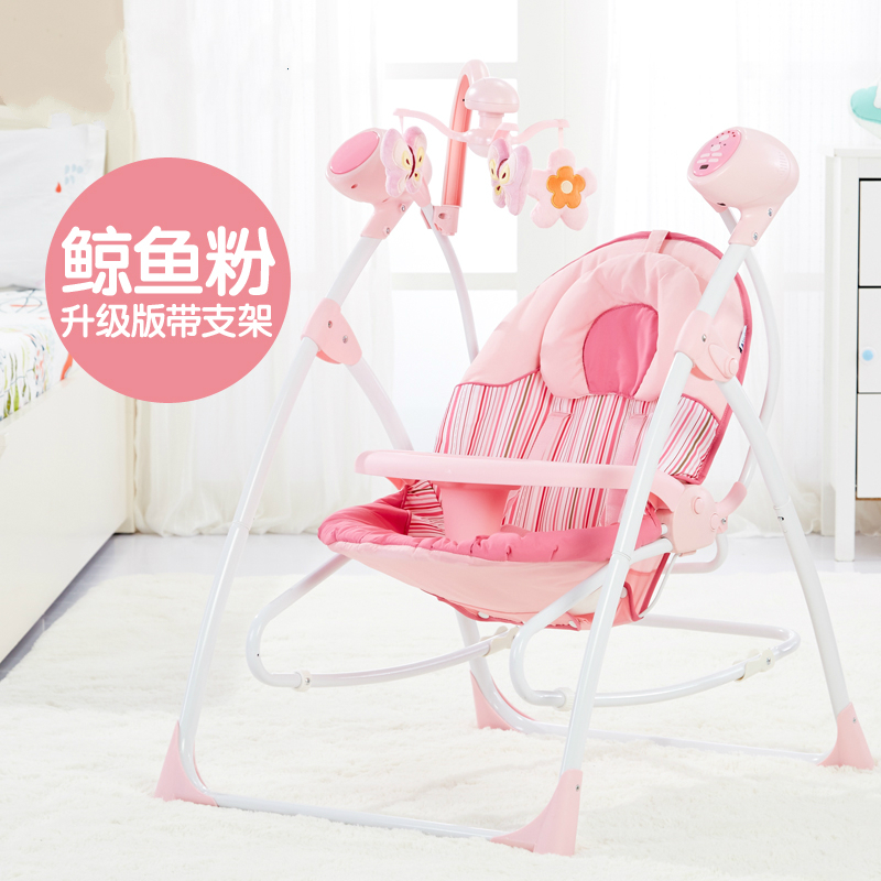 Remote Control Lovely Pink Crib Electric Baby Swing Musical Rocking Chair  Infant Bouncers Plugging In Baby Cradle Swing In Bouncers,Jumpers U0026 Swings  From ...