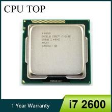 Intel i7 2600 processador cpu quad core, 3.4ghz soquete lga1155