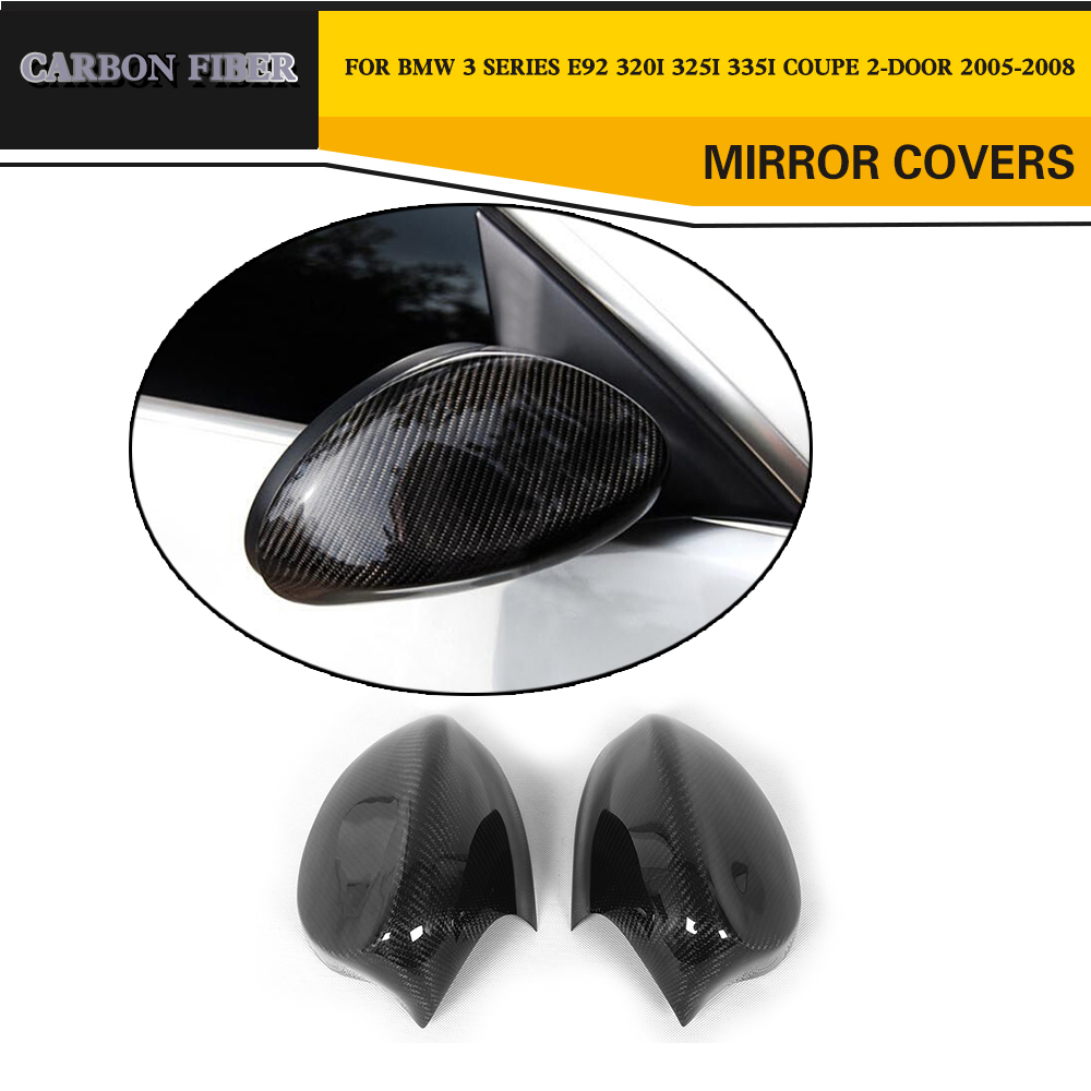 Carbon Fiber Auto Car Side Mirror Cover for BMW 3 Series E92 320i 325i 335i Coupe 2-Door 2005-2008 защитные аксессуары car pakistan bmw alpina