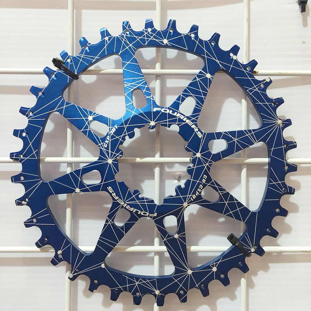 Fouriers CNC Single Chainrings MTB Bike Chain Ring 30T- 38T For XX1 XO X9 GXP Narrow Wide Teeth Cranks fouriers 7075 oval single chain ring 38t 40t 42t 44t 46t 48t chainrings bcd 104mm narrow wide tooth mtb bike chainwheel crank