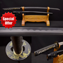 Handmade Samurai Japanese Sword KO – KATANA 1095 & Damascus Steel Clay Tempered KOBUSE Blade Practice Knife Full Tang Sharp