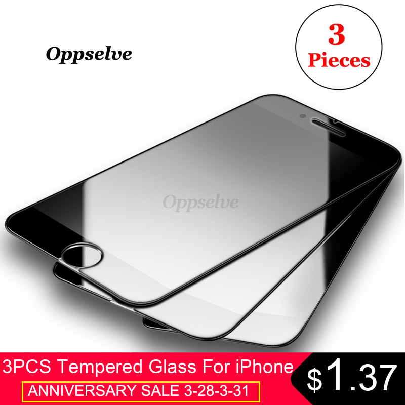 3PCS 0.3mm Screen Protector Tempered Glass For iPhone 8 7 6 s 6s Plus Non Full Cover Protection Toughened Glass Film For iPhone8 iPhone 8