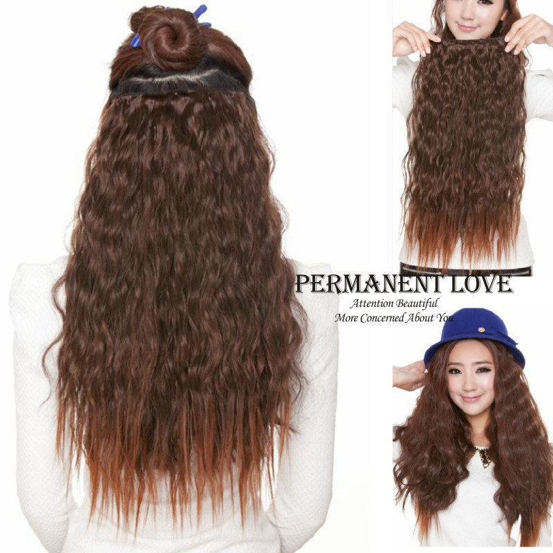 Synthetic Afro Clip In Kinky Curly Hair Extensions For African