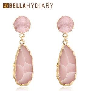 Bijoux Pink Chic Druzy Stone R