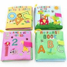 4 Gaya Buku Kain Bayi Mainan Lembut Meredam Suara Bayi Pendidikan Stroller Rattle Mainan Baru Lahir Crib Bed Mainan Bayi 0-36 Bulan W0030