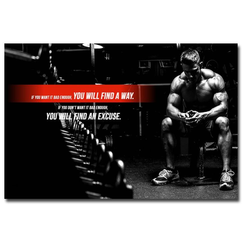 Nicoleshenting bodybuilding motivational art silk poster