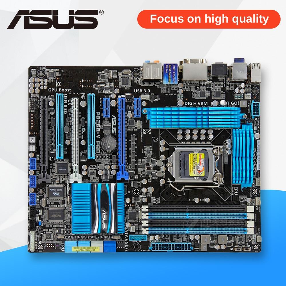 Asus P8Z68-V PRO рабочего Материнская плата Z68 разъем LGA 1155 i3 i5 i7 DDR3 32 г SATA3 USB3.0 ATX