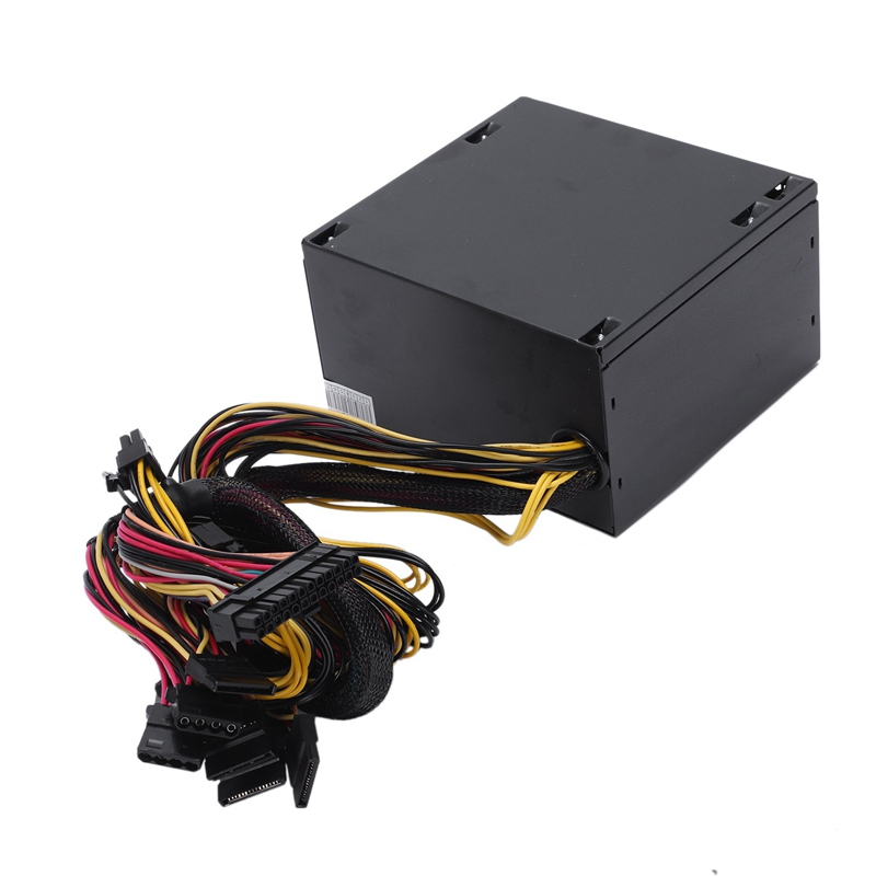 170 260V Max 600W Power Supply Psu Pfc Red 12Cm Silent Fan 24Pin 12V Pc Computer Sata Gaming Pc Power Supply For Intel For Amd in PC Power Supplies from Computer Office