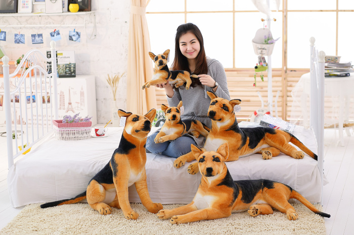 30-90cm Giant Dog Toy Realistic Stuffed Animals German Dog Shepherd Plush Toys Gift For Children
