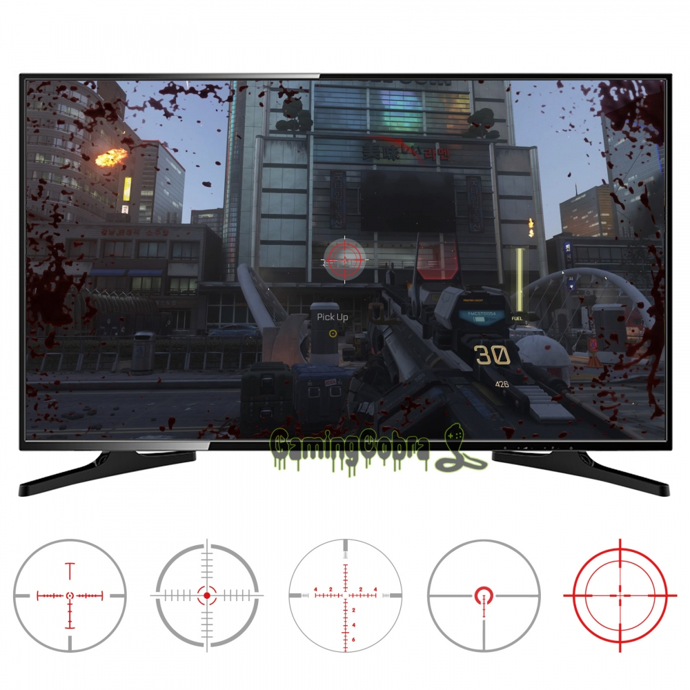 10pcs in 2 Size 5 Designs FastScope No Scope TV Decal for FPS Games for PS4 / for PS3/ for Xbox One / for Xbox 360 PC - GC00151