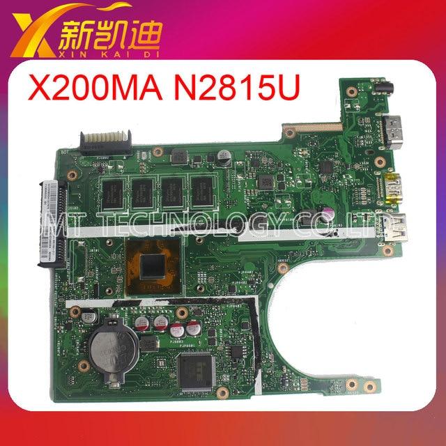 Para asus x200ma motherboard rev.2.1 intel com 60nb04u0-mb1m00 n2815 cpu testado