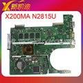 Para asus x200ma motherboard rev2.1 intel con n2815 60nb04u0-mb1m00 cpu probado