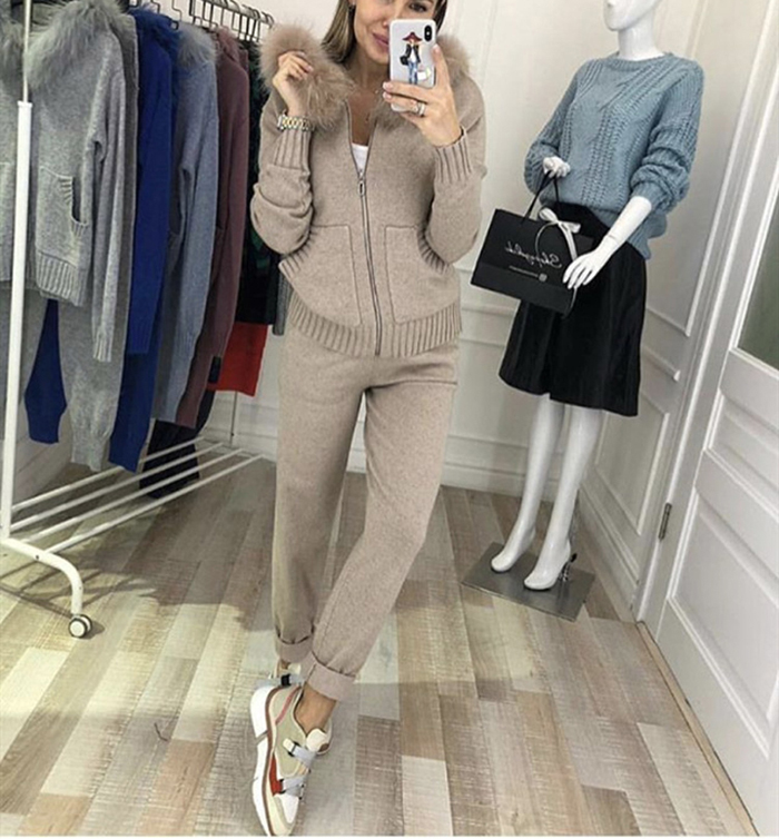 Winter Knitted Suit for Women 27