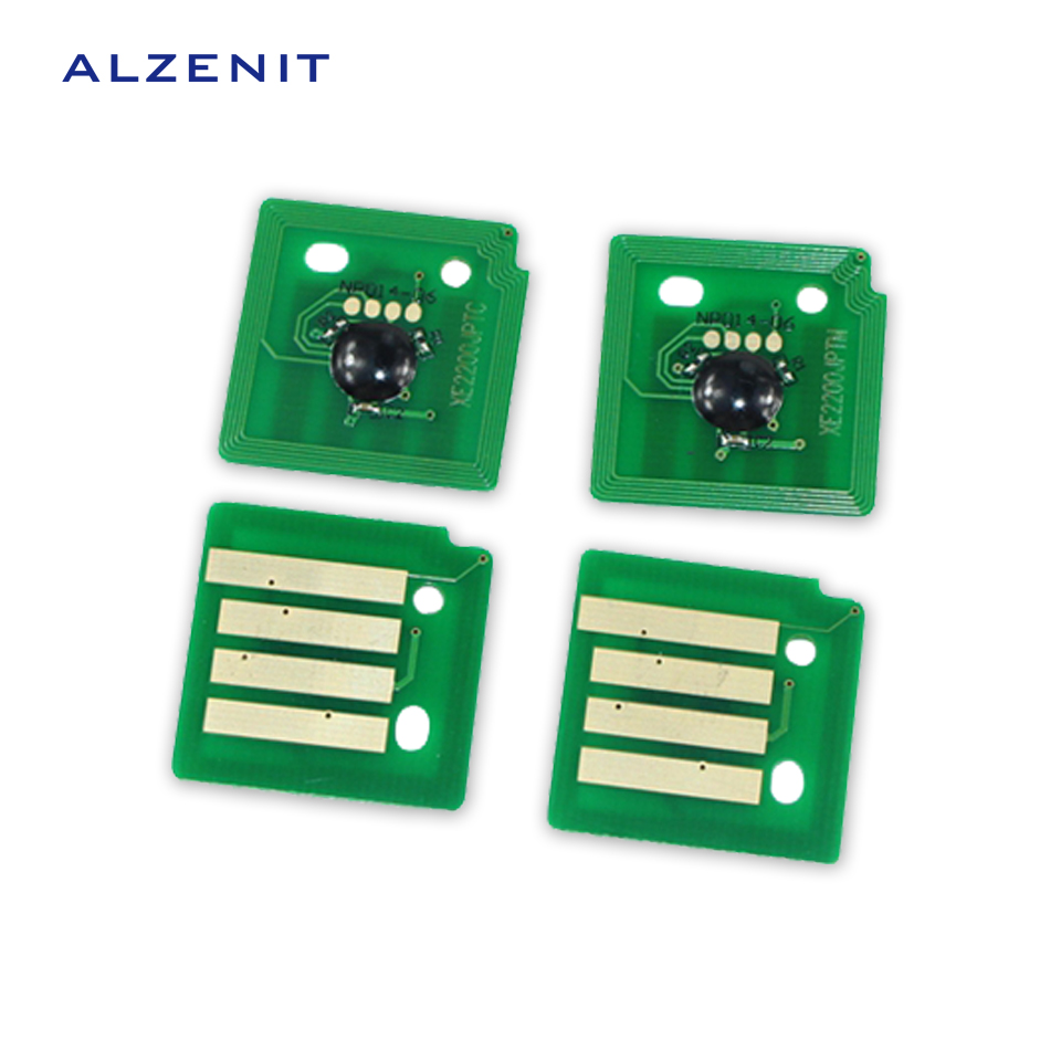 4Pcs ALZENIT For Xerox C2270 C2275 C3370 3371 C3373 C3375 OEM New Drum Count Chip Four Color Printer Parts On Sale cs dx18 universal chip resetter for samsung for xerox for sharp toner cartridge chip and drum chip no software limitation