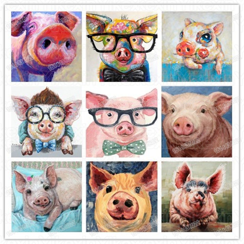 Detail Feedback Questions About Diamond Painting Animal Pig Cartoon