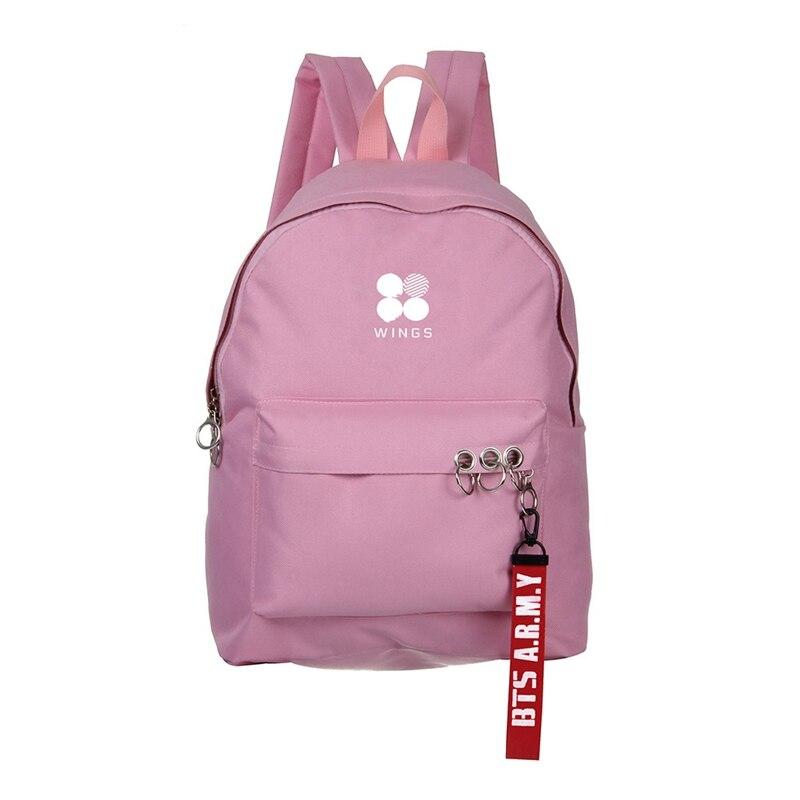 Kpop de Bts mochila bolsa estudiante de moda mochila alrededor álbum moda Kpop mochila