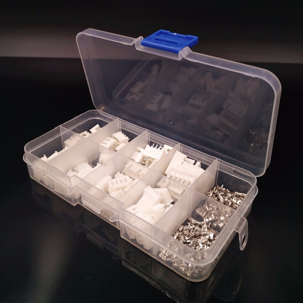 New Boxed 40 sets Kit 2p 3p 4p 5 pin 2.54mm Pitch Terminal / Housing / Pin Header Connector Wire Connectors Adaptor XH Kits #002 100sets lot connector ch3 96 molex 3 96 3pin 180 degrees top entry pitch 3 96mm pin header terminal housing ch3 96 3p