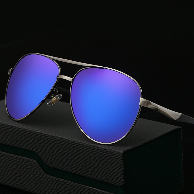 New Arrival Man Polarized Light Sunglasses Classic Pilot FrameCycling SunGlasses Men Driving Coating Mirror Sun Glasses