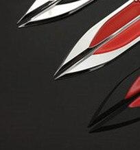 20 Pairs 3D Chromed Black Red Emblem Badge Decal Sticker Logo Fender Side Metal For Golf