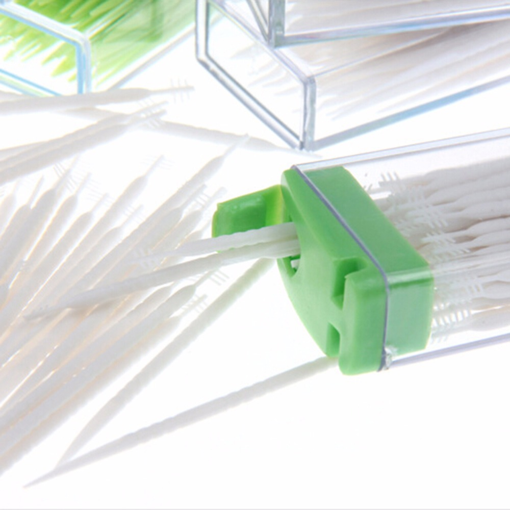 50 шт./кор. двойная головка зубной нити для ухода за межзубным пространством зуб Палочки щетка для размещения между прутьями зуб Палочки s нить Палочки стоматологический Уход за полостью рта Лидер продаж