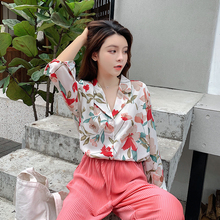 Milinsus Womens Tops and Blouses 2019 New Autumn Vintage Loose Long-sleeved Chiffon Shirts Korean Floral Elegant Ladies