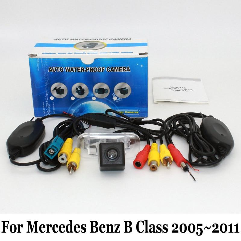 Mercedes Benz B osztályú W245 osztályú 2005 ~ 2011 / RCA vezetékes vagy vezeték nélküli / CCD éjszakai látás hátsó kamera / HD széles objektív szög kamera