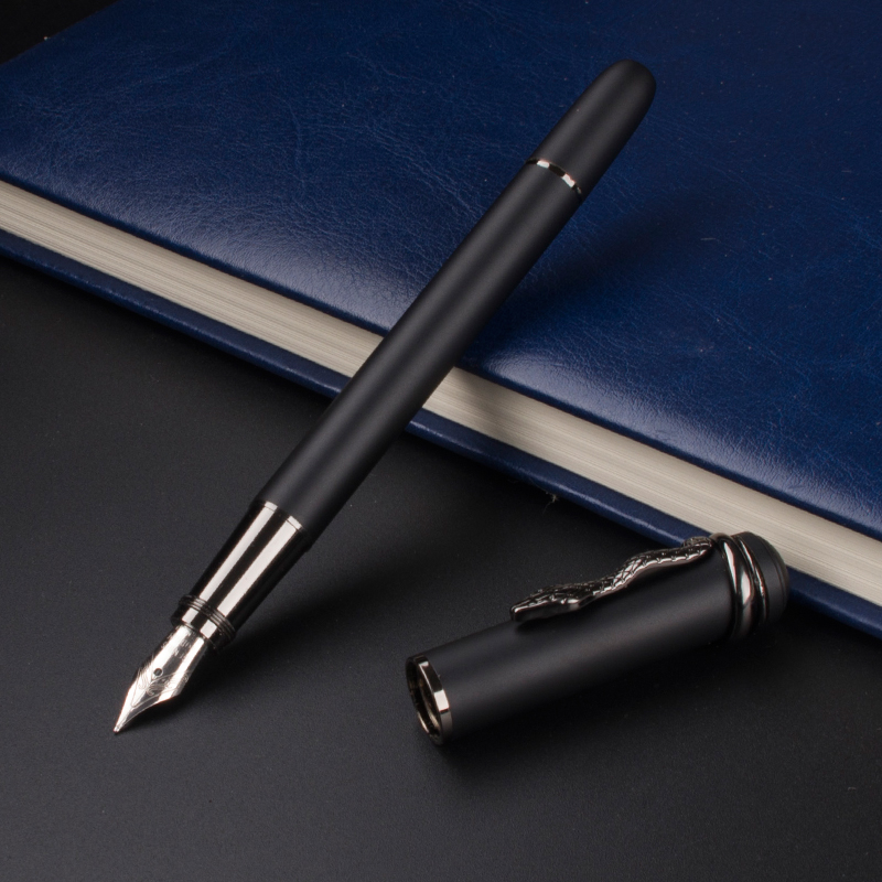 Luxury MONTE MOUNT Snake clip Calligraphy Fountain Pen (Frosted Black) italic nib art fountain pen arabic calligraphy black pen line width 1 1mm to 3 0mm