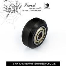 TEVO CNC Openbuilds rueda De Plástico POM con Rodamientos grandes Modelos Pasiva Ronda rueda Polea Gear perlin rueda para v-slot