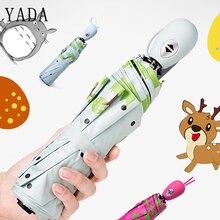 YADA Cute Design Cartoon Fawn Pattern Folding Rainy Automatic Umbrella Anti-UV Girls Boys Gift Lovely Animal Elk YD050