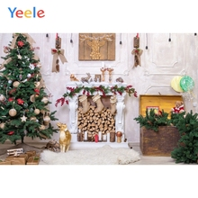 Yeele Christmas Photography Backdrop Fireplace Tree Gifts Kids Baby Birthday Party Photographic Background For Photo Studio