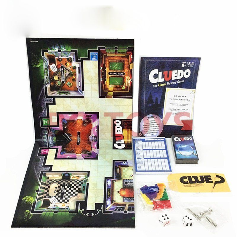 Detective Game for Cluedo Classic Mystery Board Game Funny Party Kids Detective Reasoning Traditional Puzzle Game fake rose flowers