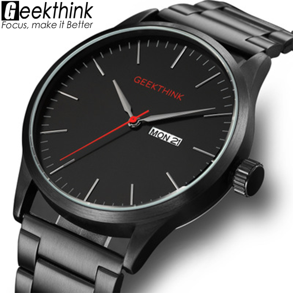 Geekthink New Military Japan Quartz Watches Men Fashion Casual Luxury Top Brand Men Clock male Date Analog Designer Wrist watch burei top brand creative quartz watch men luxury casual black japan quartz watch simple designer fashion strap clock male new