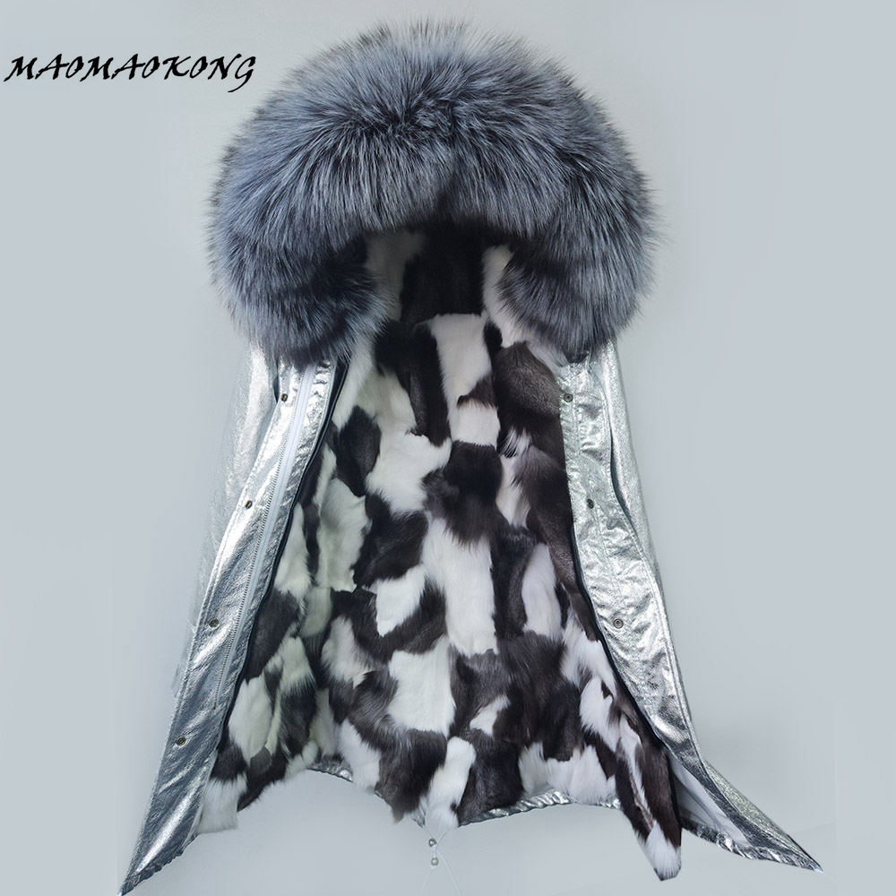 Brand 2017 winter jacket women new long silver colors parka real fur coat big raccoon fur collar hooded parkas thick outerwear real fox fur liner winter jacket women new long parka real fur coat big raccoon fur collar hooded parkas thick outerwear