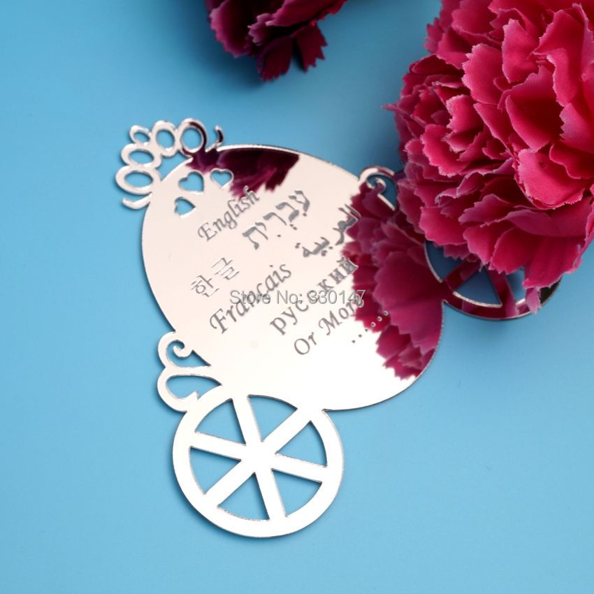 Car Signage Wheel Acrylic Mirror Stickers Wedding Party Memorial Sign Personalized Custom Gifts