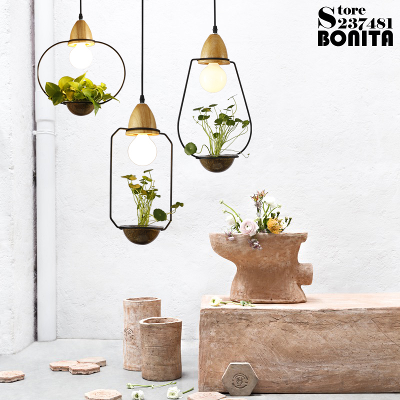 Potted Plants Led Pendant Lights Simple Rural Flower And Grass Cord Pendant Lamp Glass Plant Droplight IronPotted Plants Led Pendant Lights Simple Rural Flower And Grass Cord Pendant Lamp Glass Plant Droplight Iron