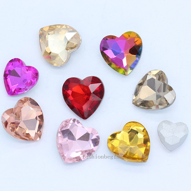 20p 8mm heart shape color pointed foiled back crystal glass rhinestones  jewels Nail Art decoration fancy stone for clothes craft-in Beads from  Jewelry ... 3cc8ac353c5c
