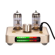 Little Bear P2 Gold 6C11 tube valve headphone amplifier amp with LED VU meter(China)