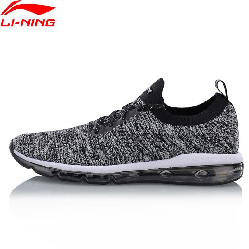 Li-ning 2018 hommes chaussures bulle MAX tricot chaussures de marche respirant portable Li Ning chaussures de sport confortables baskets AGLN055 Y