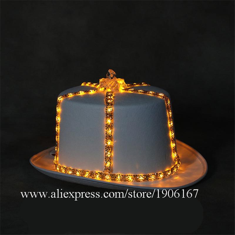 Led light hat music festival nightclub bar light stage props birthday gift04