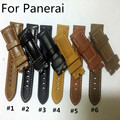 Special Offer 24mm 26mm Handmade Italian Vintage Genuine Leather WatchBand Strap Belt For Panerai PAM Without Clasp With LOGO