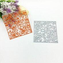 Julyarts 2019 Square Metal Cutting Flower Die For DIY Scrapbooking Stencil Paper Embossing Card Making Craft Cut Stitch