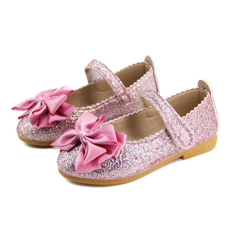 Elegant Girls Shoes Fashion Princess Flat Shoes For Kids Toddler Girl Big  Children Flats With Ribbon d451cc636764