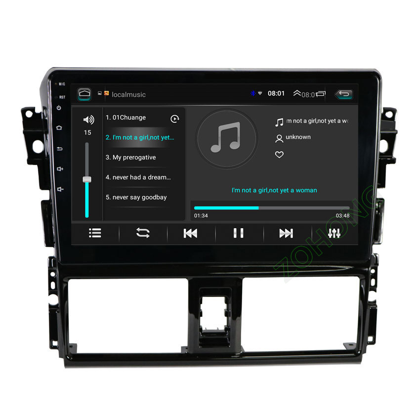 "Image 4 - 2.5D 10.2"" 4G 2+32Gb Android 9.0 car Multimedia DVD player for Toyota Vios Yaris 2013 2014 2015 2016 CAR GPS navigation Radio-in Car Multimedia Player from Automobiles & Motorcycles"